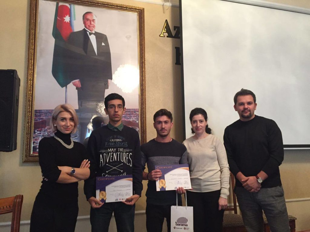 Sil. Startup – Winner: First Prize (Big Idea Competition, Ganja)